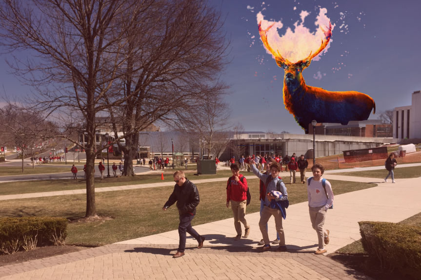 Prepocalypse: Fiery Stag Appears in Sky as Teenagers FloodCampus